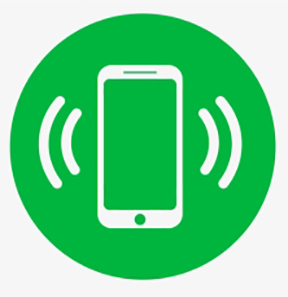 How adorable is this little kermit-the-frog green round logo icon for a smartphone iphone table, either call or text sms facetime zoom skype.