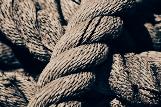 This is an image of a nautical rope, depicting creative tension, an uncomfortable stage in the creative process that never feels good, and thus we classify it as a bad experience. Authentic way coaching for the gifted and creative aka Lauren Berley, will continue to share great information for more of those ah-ha moments.
