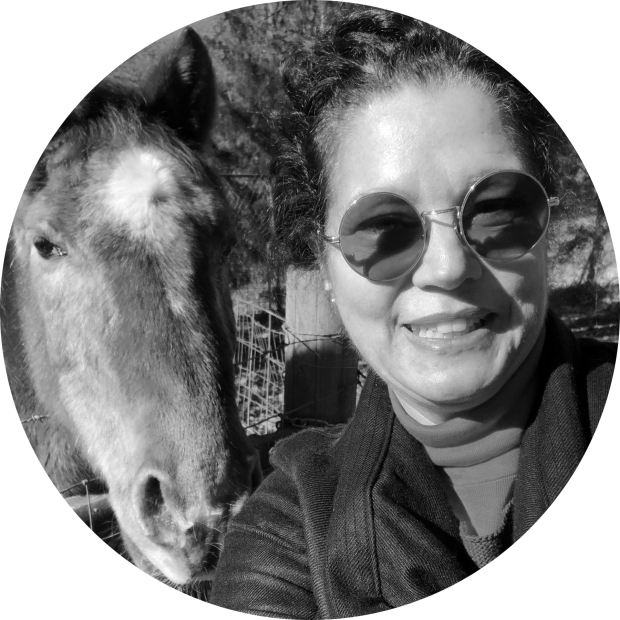 Hello. My name is Lauren Berley and I am a Certified Professional Coach specializing in Authentic Way Coaching for the Gifted and Creative. This is my horse, Cadi... short for Acadia. She is a senior horse I adopted in Colorado.